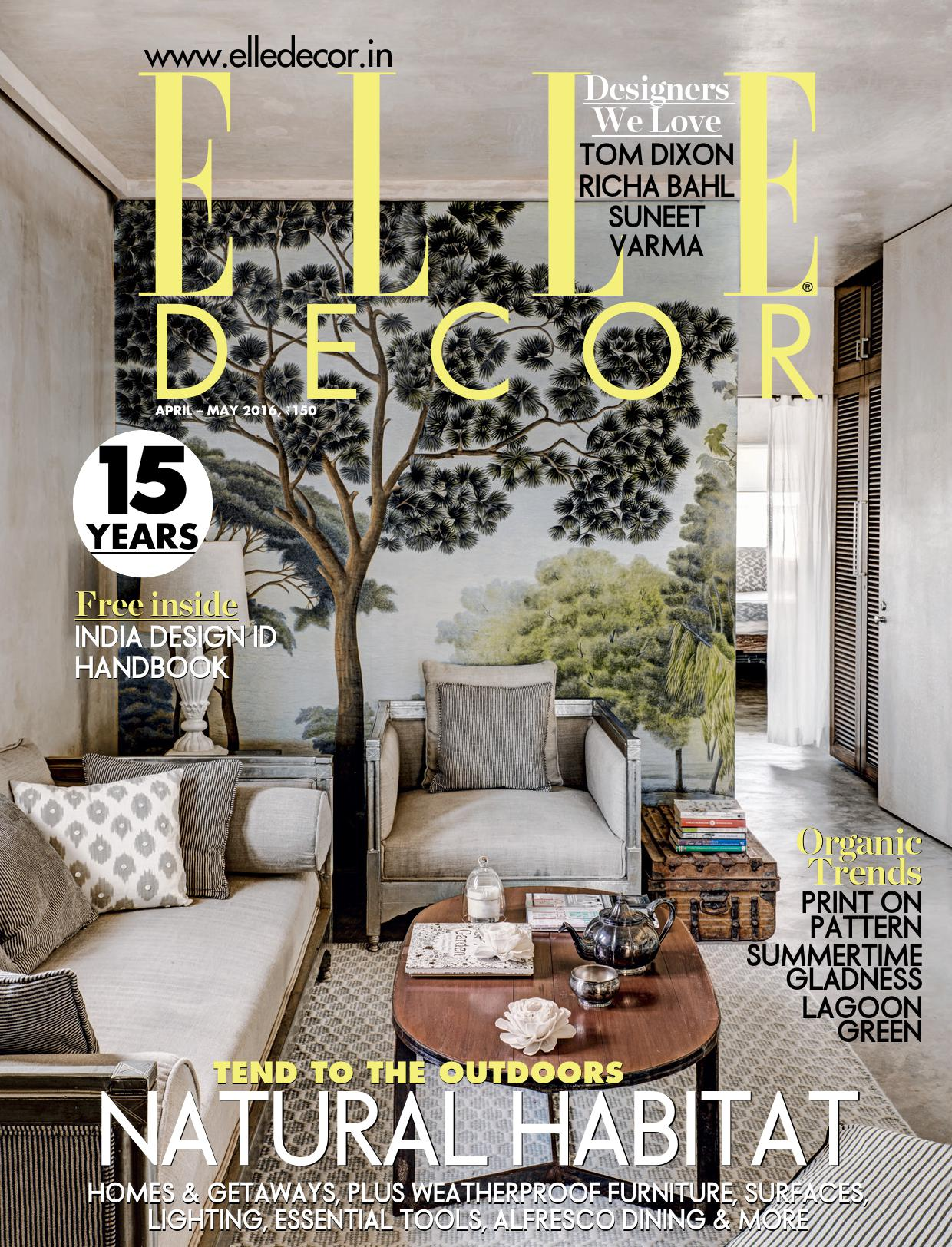 IMG: ELLE DECORATION India April-May2016に弊社のAmbienteでの展示商品が紹介されました